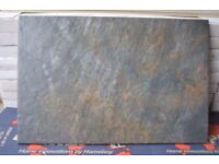 CHARCOAL RIPPLED 30X45 WALL AND FLOOR TILES LOT OF 18M2