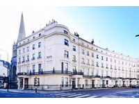 Spacious three bedroom flat in a period conversion with a separate lounge in Lancaster Gate, W2