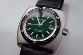 Nivada Tatavana automatic mechanical diver's wristwatch - NOS - Swiss -signed Winegartens, London