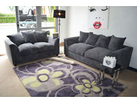 *BRAND NEW* DIANE 3+2 SOFA JUMBO CORD FABRIC *AVAILABLE IN DIFFERENT COLOURS*