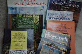 Ten books on flower arranging - will sell as one lot, all for £40 or £5 each book.