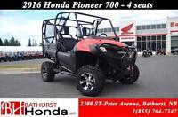 2016 Honda Pioneer 700-4 Mag Wheels! Winch! Front Bumper!