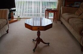 Yew Reproduction Drum Table
