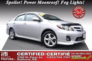 2011 Toyota Corolla S Nicely Equipped! Spoiler! Power Moonroof!