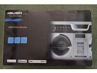 Bush DAB/FM retro boombox with i-phone dock. Brand new in box.