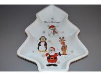 Ceramic Christmas tree shaped bowl