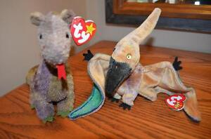 Ty Beanie Babies *Retired & Rare* - Set of 3 Prehistoric/Mysical