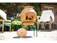 Clay Chimenea Chiminea La Hacienda Honeypot BNIB