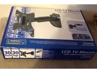 """Never Used Nikkai LCD TV Mount Bracket with cable management, Holds up to 30"""", swivel and tilt."""