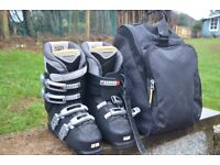 Salomon Ski Boots and Boot bag