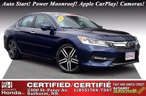 2016 Honda Accord Sedan SPORT Auto Start! Power Moonroof! Apple