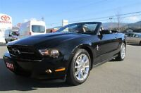 2011 Ford Mustang V6 Convertible Leather heated seats