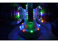 6 Pod Light with Sound to Light Control andtwin rotating disco ball