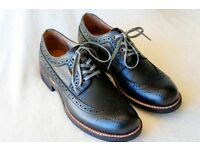 Men's black dress brogue shoes by G Star Raw, Size 8 brand new in box, have to be seen