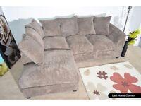 Brand New Byron Corner Sofa High Quality Jumbo Cord Fabric