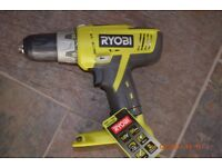 RYOBI CORDLESS DRILL WITH HAMMER ACTION