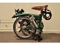 Brompton S6L Racing Green - Excellent condition(used a few times)