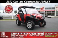 2012 Can-Am Commander 1000 XT Certified! Low Mileage!