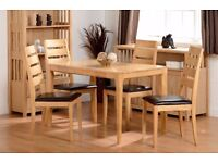 New ALL Solid Hardwood (no veneers) Small Strong Compact Dining Table & 4 Chairs ONLY £269