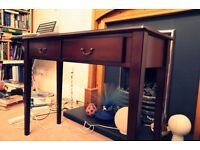New 2 Drawer Mahogany Console Table