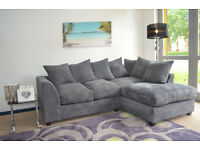 *BRAND NEW* DYLAN JUMBO CORD CORNER SOFA *AVAILABLE IN DIFFERENT COLOURS*
