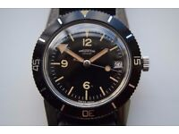 Vintage Diver's manual winding mechanical wristwatch - Signed Winegartens - '60s/'70s