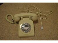 Retro style cream telephone from John Lewis