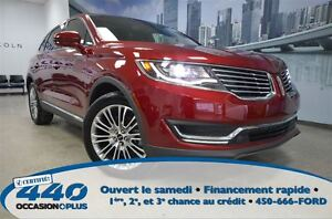 2016 Lincoln MKX Reserve *Cuir, Toit, Navigation* - Occasion