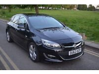 JUST MAJOR SERVICED,2012 VAUXHALL ASTRA SRI 1.6,MANUAL,PETROL,BLACK,LOW MILE,CRUISE CNTRL,HPI CLEAR