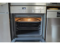 Immaculate brushed steel and glass Neff built-in oven with grill B14M42.3GB