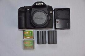 Best Price Canon EOS 40D 10.1MP DSLR Digital Camera Body 2 Batteries Excellent