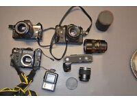 vintage cameras + accessorises