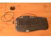Logitech wired ergonomic keyboard and mouse