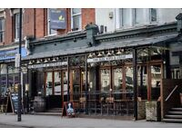 Experienced bar staff needed for busy sports led pub in Clapham Junction