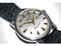 Longines Conquest Date automatic mechanical wristwatch - Swiss - '60s - Cal 19
