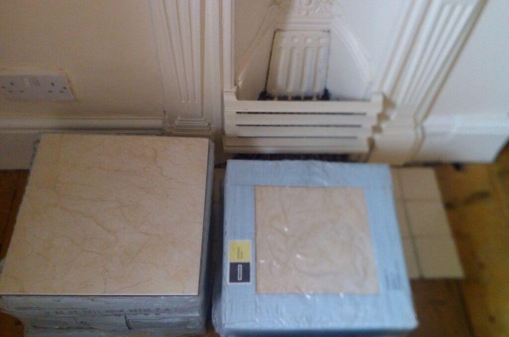 Homebase Ceramic Floor Tiles 33 X 33 Nova Beige 9 Boxes Of 9 In