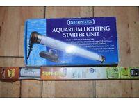 aquarium light starter and tube (both brand new )