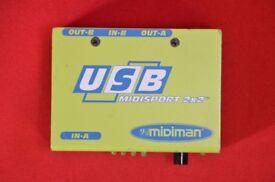 M-Audio USB Midisport 2x2 £52