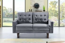 furniture store-Plush Velvet Mazz Sofa- 3+2 Seater - In Cream & Grey Colors-avail this offer