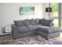 Grey Right Arm Corner Sofa