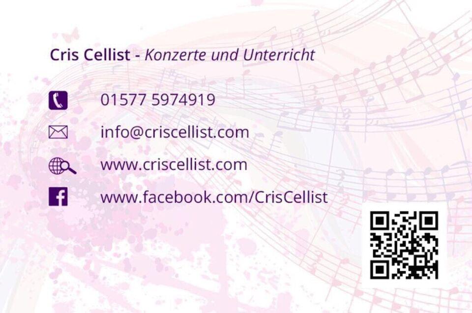 Cello lernen Cellolehrerin Cello Unterricht in Düsseldorf