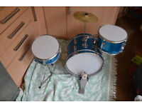 Junior Drum Kit - Kids drum set; 3 piece + cymbal; collection only