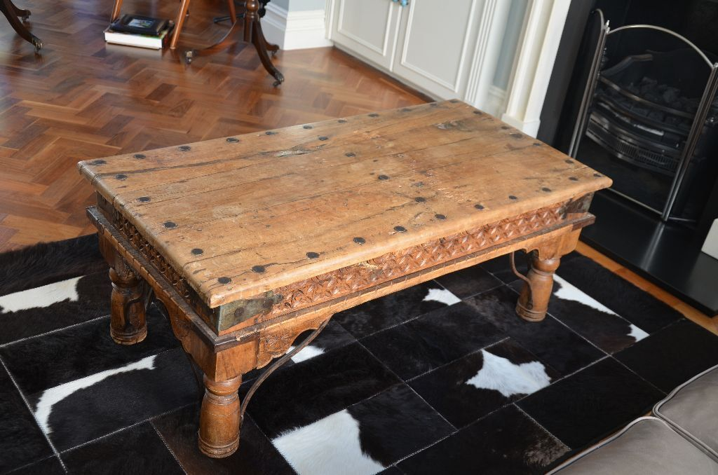 Indian Antique Coffee Table Not Reproduction