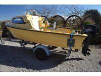 Bonwitco 400c day boat - Roller Coaster trailer - 25hp Tohatsu - Chart plotter/sonar - loads of kit