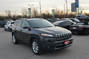 2017 Jeep Cherokee Limited - V6, Back Up Cam, GPS, Bluetooth