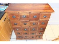 Chest of 20 drawers.