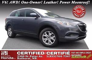 2015 Mazda CX-9 GS Certified! V6! AWD! One-Owner! Leather! Power