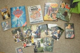 dr Who LOT old annuals, , books video etc
