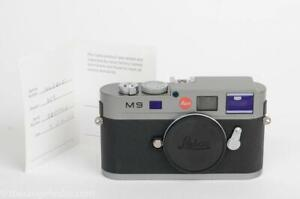 Leica M9 Steel Grey 18MP Camera w/Replaced Sensor/Papers