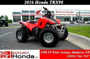 2016 Honda TRX90X Engineered specifically for younger riders!!